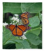 Monarch Butterfly 68 Fleece Blanket