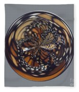 Monarch Butterfly Abstract Fleece Blanket