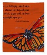 Monarch Butterfly Pismo Beach Fleece Blanket
