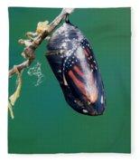 Monarch Butterfly Ready To Emerge Fleece Blanket