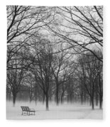 Monarch Park Ground Fog Fleece Blanket