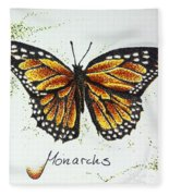 Monarchs - Butterfly Fleece Blanket