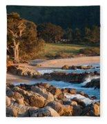 Monastery Beach In Carmel California Fleece Blanket