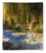 Monet After Midnight Fleece Blanket