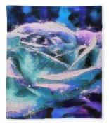 Monet Frosted Rose Fleece Blanket