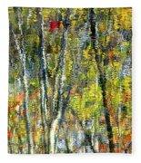 Monet Lives On Fleece Blanket