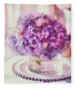Monet Purple Pedestal Fleece Blanket