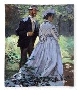 Monet's Bazille And Camille Fleece Blanket