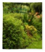 Monet's Garden Dreamscape Fleece Blanket