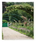 Monets Garden - Giverney - France Fleece Blanket