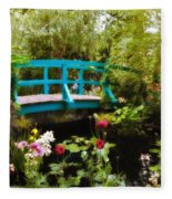 Monet's Garden Fleece Blanket