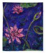 Monet's Lily Pond I Fleece Blanket