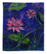 Monet's Lily Pond II Fleece Blanket