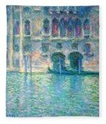Monet's Palazzo De Mula In Venice Fleece Blanket