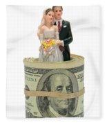 Money And Happiness Fleece Blanket