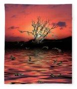 Money Tree Sunset Fleece Blanket