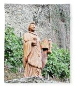 Monk Of St Goar Fleece Blanket