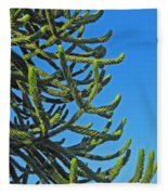 Monkey Puzzle Tree Fleece Blanket
