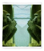 Monkey See Monkey Do Fleece Blanket