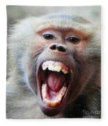 Monkey's Smile Fleece Blanket