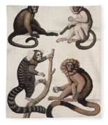 Monkeys Fleece Blanket