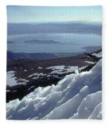 Mo-186-mono Lake From Mt. Dana In Winter  Fleece Blanket