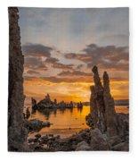 Mono Lake Sunrise Fleece Blanket