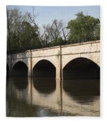 Monocacy Aqueduct On The C And O Canal In Maryland Fleece Blanket