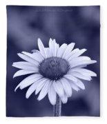 Monochrome Aster Fleece Blanket