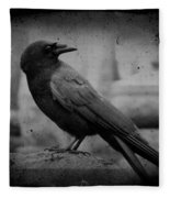 Monochrome Crow Fleece Blanket