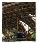 Monorail Depot Disneyland 01 Fleece Blanket