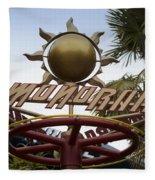 Monorail Signage Disneyland Fleece Blanket