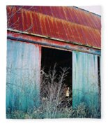 Monroe Co. Michigan Barn Fleece Blanket