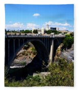 Monroe Street Bridge - Spokane Fleece Blanket