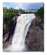 Mont Morency Falls Fleece Blanket