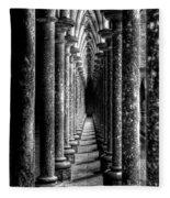 Mont St Michel Pillars Fleece Blanket