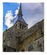 Mont St Michel Tower Fleece Blanket