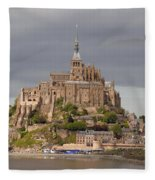 Mont St Michel Fleece Blanket