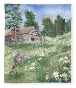 Montana Cabin Fleece Blanket