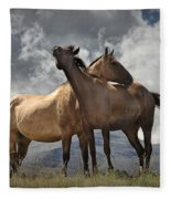 Montana Horses Fleece Blanket