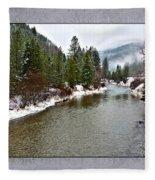 Montana Winter Frame Fleece Blanket