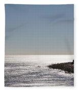 Montauk Beach And Bluff Fleece Blanket