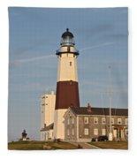 Montauk Point Lighthouse Fleece Blanket