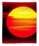 Montauk Sunset Abstract Fleece Blanket