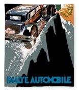 Monte Carlo - Vintage Poster Fleece Blanket