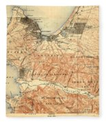 Monterey And Carmel Valley  Monterey Peninsula California  1912 Fleece Blanket
