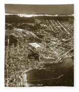 Aerial Of Monterey And Pacific Grove  California Oct. 25 1934 Fleece Blanket