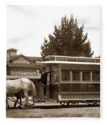Monterey And Pacific Grove Street Railway Circa 1895 Fleece Blanket