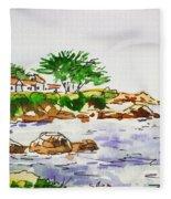 Monterey- California Sketchbook Project Fleece Blanket