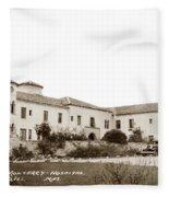 Monterey  Hospital At 576 Hartnell Street Circa 1939 Fleece Blanket